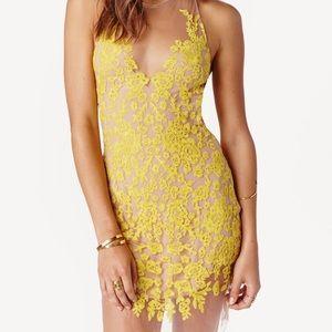 For love and lemons luau halter dress!